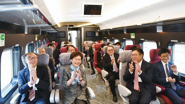 林鄭月娥: 高鐵將促進香港與內地互聯互通 有利於香港進一步融入國家發展大局<br/>