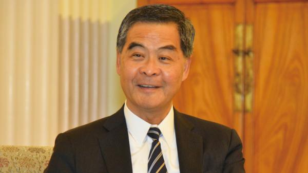 """梁振英:""""一國兩制""""實踐成功 冀台灣民眾多來港了解<br/> Leung Chun-ying: Taiwanese are welcomed to Hong Kong..."""